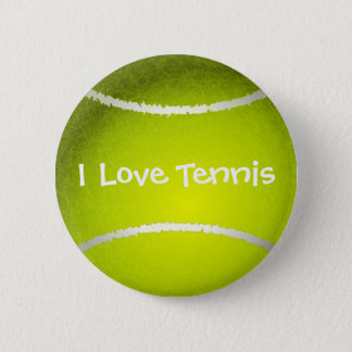 I love tennis customizable Button