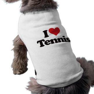 I Love Tennis Dog T-shirt