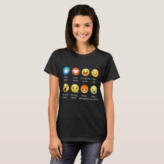 I Love Tennis Emoji Emoticon Graphic Tee Shirt