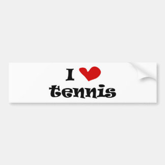 I love tennis gifts and t shirts with heart design bumper sticker