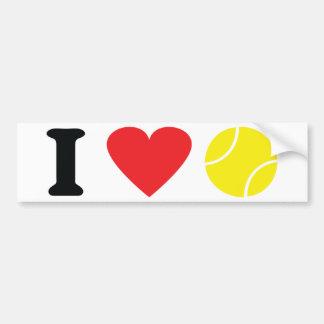 I love tennis icon bumper sticker