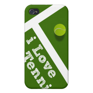 I Love Tennis iPhone 4/4S Covers