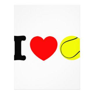 I Love Tennis Letterhead