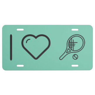 I Love Tennis License Plate