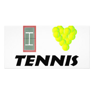 I love tennis customized photo card