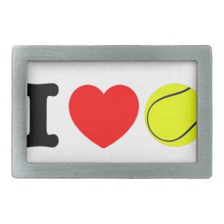 I Love Tennis Rectangular Belt Buckles