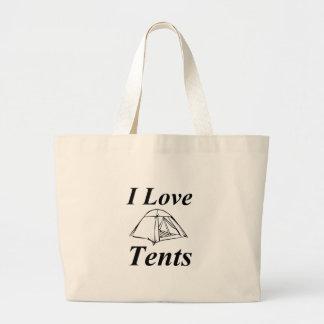 I Love Tents Large Tote Bag