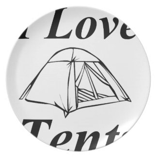 I Love Tents Plate
