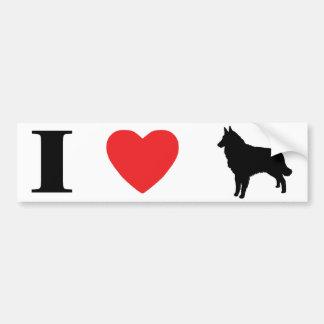 I Love Tervurens Bumper Sticker