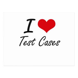 I love Test Cases Postcard