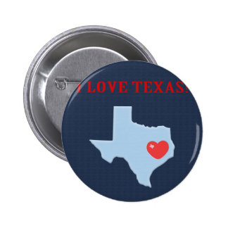 I Love Texas 2 Inch Round Button