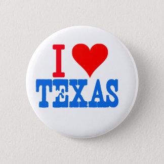 I love Texas 2 Inch Round Button