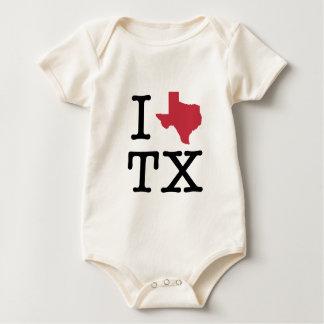 I Love texas Baby Bodysuit