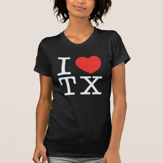 i love texas black T-Shirt