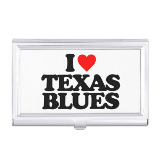 I LOVE TEXAS BLUES BUSINESS CARD HOLDER
