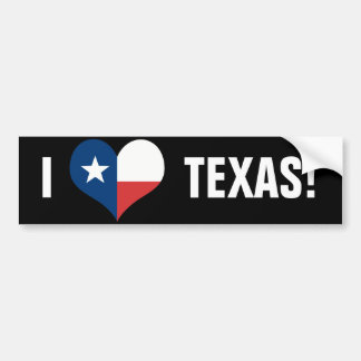 I love Texas Bumper Sticker