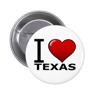 I LOVE TEXAS PINBACK BUTTONS