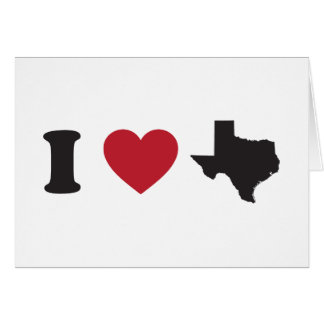 I Love Texas Card