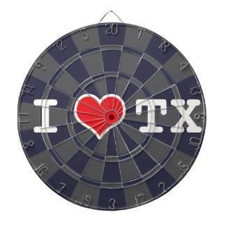 I Love Texas Charcoal Gray Dartboard With Darts