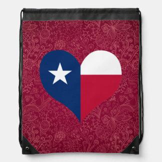 I Love Texas Drawstring Bag