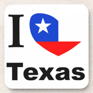 I Love Texas Drink Coaster