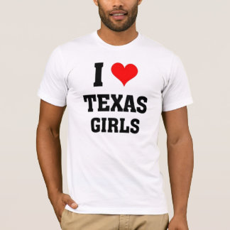 I love Texas Girls T-Shirt