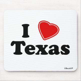 I Love Texas Mouse Pad