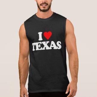 I LOVE TEXAS SLEEVELESS SHIRT