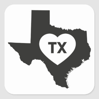 I Love Texas State Stickers