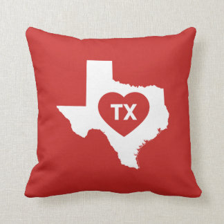 I Love Texas State Throw Pillow