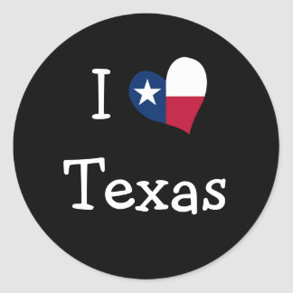 I Love Texas Stickers