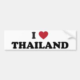 I Love Thailand Bumper Sticker