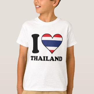 I Love Thailand Thai Flag Heart T-Shirt
