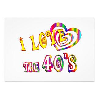 I Love the 40s Invitations