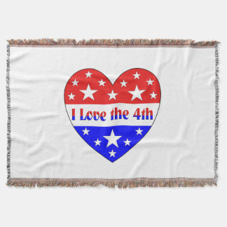 I Love the 4th Throw Blanket