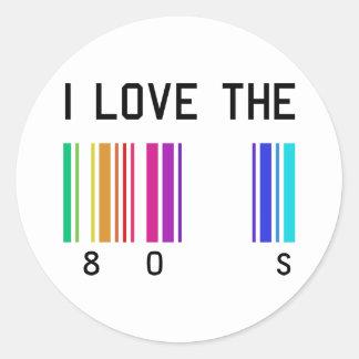 I love the 80´s design classic round sticker