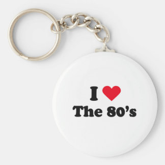 I love the 80 s keychains
