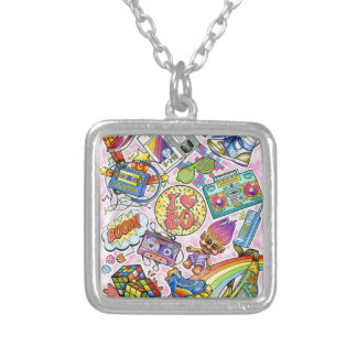 I love the 80s - 1980s Swag Silver Plated Necklace