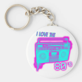 I LOVE THE 80s Basic Round Button Keychain