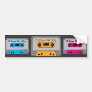 I Love The 80s (cassette) Bumper Sticker