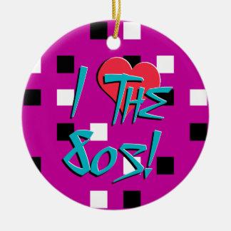 I Love The 80s! Ceramic Ornament