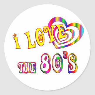 I Love the 80s Classic Round Sticker