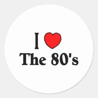 I Love The 80's Classic Round Sticker