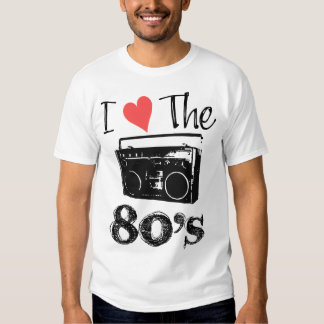I Love The 80's Design Mens Shirt