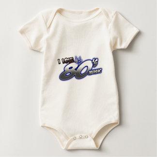 I Love the 80s Eighties MUSIC 1980s music fan Baby Bodysuit