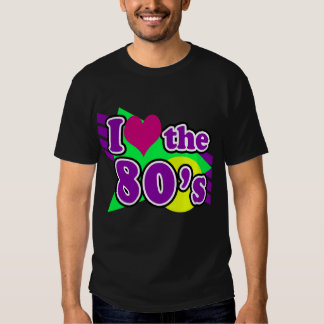 I Love the 80's Geometric Neon Eighties Party T-shirt