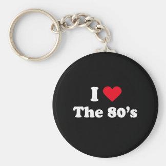 I love the 80s key chain