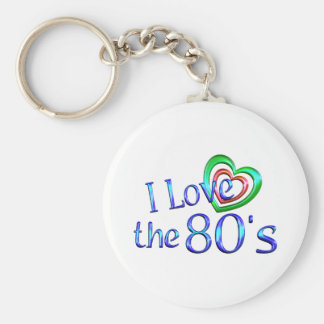 I Love the 80s Keychains