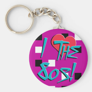 I Love The 80s Keychain