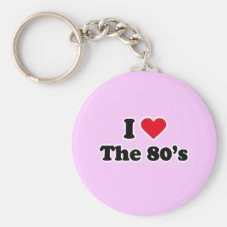 I love the 80's key chain